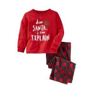 OshKosh BGosh Dear Santa I Can Explain Pajamas Set